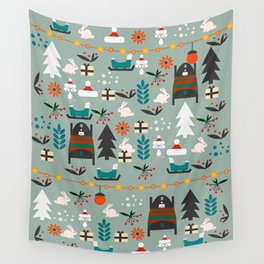 Everybody's waiting for Santa Wall Tapestry