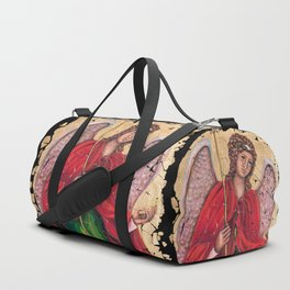 Archangel Gabriel Fresco With A Crackled Finish for #Society6 Duffle Bag