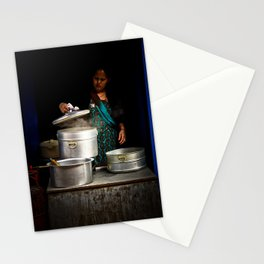Cooking in Kathmandu, Nepal Stationery Cards