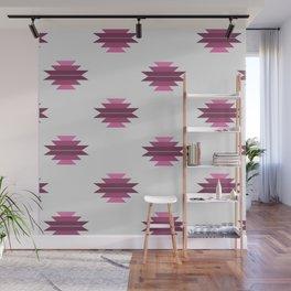 Plumly Pink Aztec Print Wall Mural