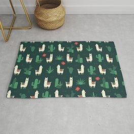 Fleece Navidad and Cactus Rug