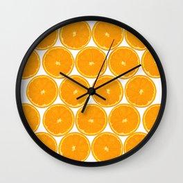 Orange Fruit Pattern Wall Clock