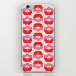 Flowers geometry - retro pattern no2 iPhone Skin