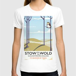 stow on the wold vintage travel poster T-shirt