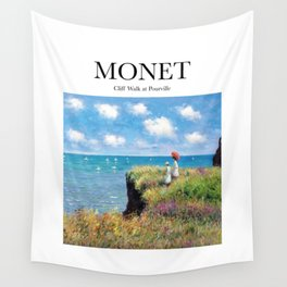 Monet - Cliff Walk at Pourville Wall Tapestry