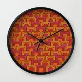 Geometric Retro Pattern Wall Clock