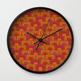Geometric Retro Pattern Wall Clock