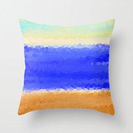 Crystallized Beach Day. Throw Pillow