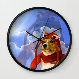Lobster Corgi Wall Clock