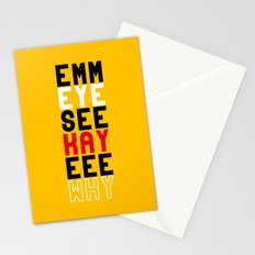 Mickey on Yellow Stationery Cards