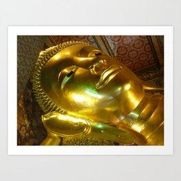 Reclining Buddha at Wat Po Art Print