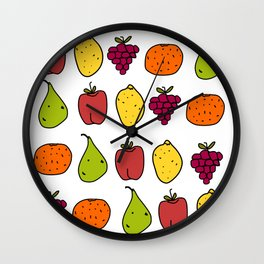 Fruits in a Line Wall Clock