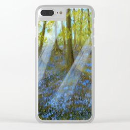 Bluebell Wood Clear iPhone Case