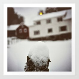 Winterday in Norway Art Print