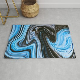 Marble Marbled Abstract Paint CL Rug