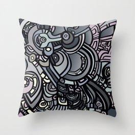 ROBOTS OF THE WORLD Throw Pillow