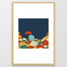 Umbrellaphant Framed Art Print
