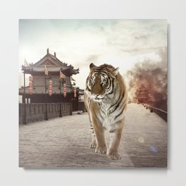 Tiger Mattepainting Metal Print
