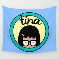 tina crespo Wall Tapestries featuring Tina by Page394