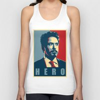 stark Tank Tops featuring Tony Stark by Cadies Graphic