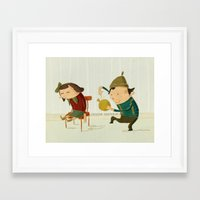 kids Framed Art Prints featuring kids by Danny Chatzikonstantinou