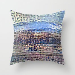 Recolored Mount Brocken Throw Pillow