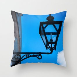 Lamp against the background of the blue sky Throw Pillow