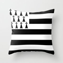 Flag of brittany Throw Pillow
