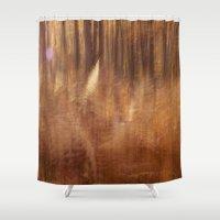 fern Shower Curtains featuring Fern by Mina Teslaru