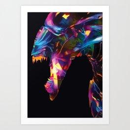 Neon Alien Kunstdrucke