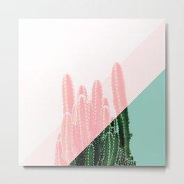 Tri-color cacti Metal Print