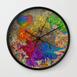 Wings Of Pride Bow Of Freedom Wall Clock