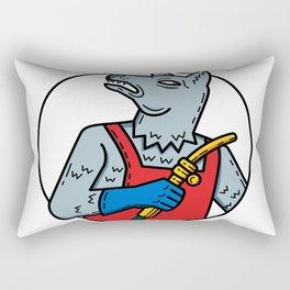 Dog Welder Welding Torch Monoline Rectangular Pillow