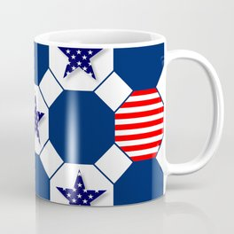Nautical Patriotic Hexagons Coffee Mug