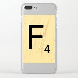 Scrabble F Decor, Scrabble Art, Large Scrabble Prints, Word Art, Accessories, Apparel, Home Decor Clear iPhone Case