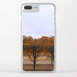 Autumn in the city Clear iPhone Case