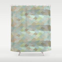 Dragon leaf scales Shower Curtain