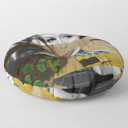 Klimt's The Kiss & Rita Hayworth with Glenn Ford Floor Pillow