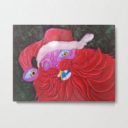 He Sees You When You're Sleeping Metal Print