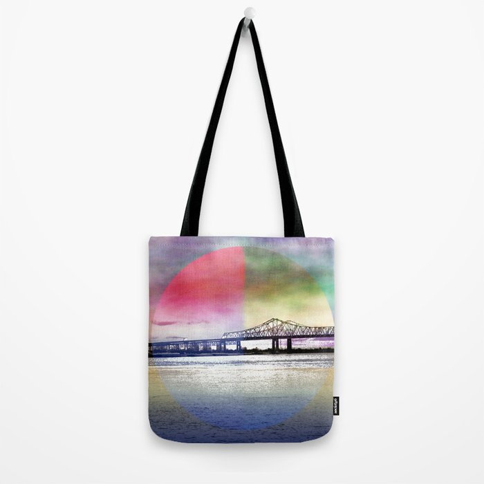 Crescent City Connection Bridge Tote Bag