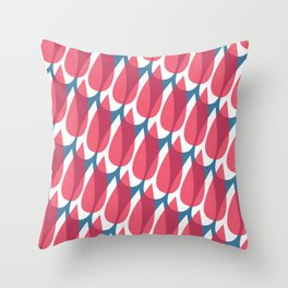 Red Drops Throw Pillow