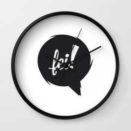 FEI blk/wht Wall Clock