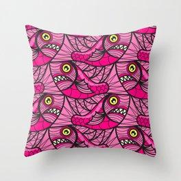 Escher Fish Pattern VIII Throw Pillow