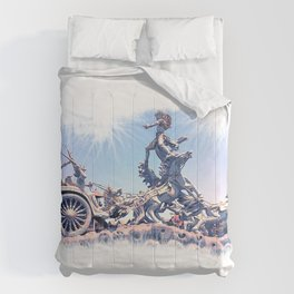 colossal horse statue Comforters