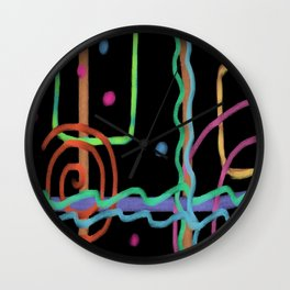 Abstract Digital Drawing Wall Clock