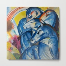 "Franz Marc ""The Tower of Blue Horses"" Metal Print"