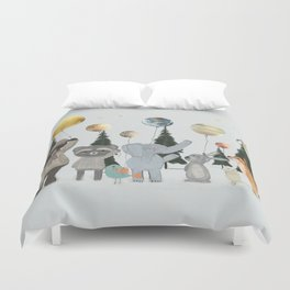 the solar parade Duvet Cover