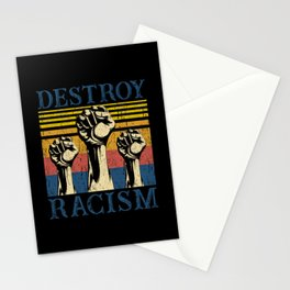 Destroy Racism Stationery Cards