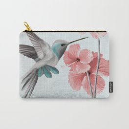 Hummingbird with Hibiscus Carry-All Pouch