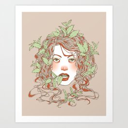 Peppermint Girl Art Print